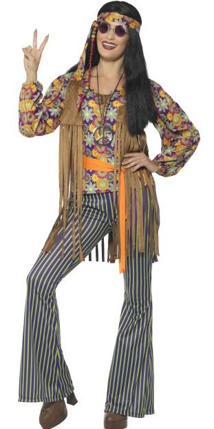 Festivalshop | 60′s Zangeres Flower Power Hippie