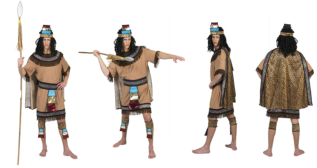Festivalshop Aztec Man Beige With Colors