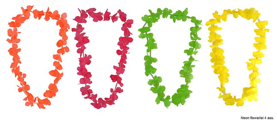 Festivalshop hawaii bloemenkrans neon stof - Oosters stof ...