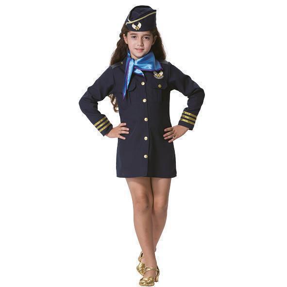 Festivalshop Costume Air Hostess Blue
