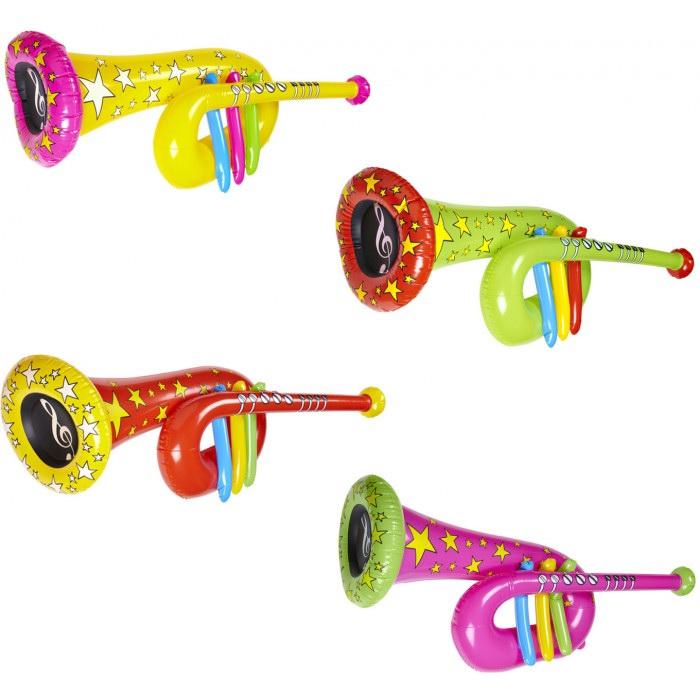 Festivalshop opblaasbare clown tuba felle kleuren - Felle kleuren ...