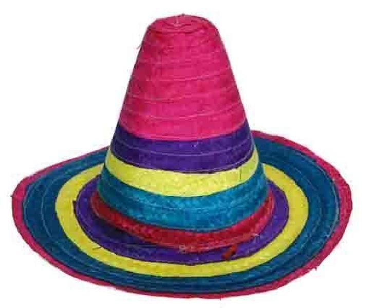 Festivalshop strohoed mexico met felle kleuren - Felle kleuren ...