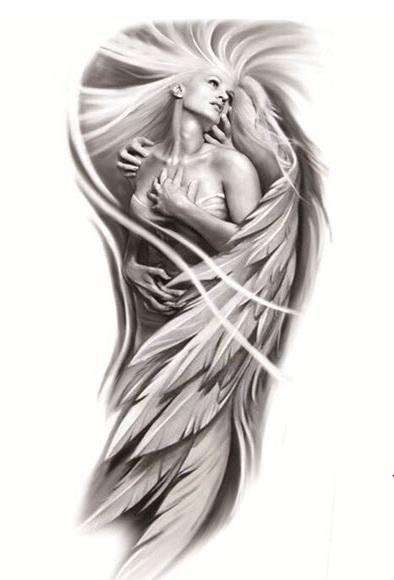 Festivalshop Female Angel Tattoo Sleeve