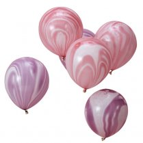 Festivalshop - 10 Balloons with Marble Effect Pastel - GRMW115