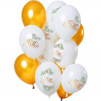 Festivalshop - 12 Ballons marriage ′Mr & Mrs′ or - FO69350