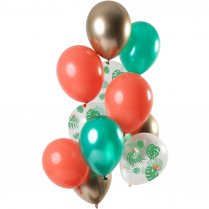 Festivalshop - 12 Ballonnen set Tropical Gem - FO69376