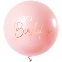 Festivalshop - 1 Ballon 80cm lush blush happy birthday - FO67010