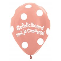 Festivalshop - 1 Balloon communion convex metallic rose - STR12CO568