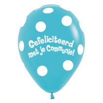 Festivalshop - 1 Balloon communion curved turquoise 30c - STR12CO038