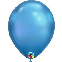 Festivalshop - 1 Qualatex Ballon 30cm Chromblau - FO58272Q