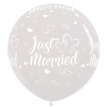 Festivalshop - 1 balloon 90cm Just Married heart - STR36JMH390