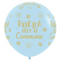 Festivalshop - 1 balloon 90cm communion blue - STR36HC640