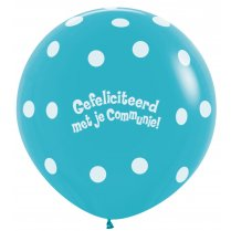 Festivalshop - 1 balloon 90cm communion turquoise - STR36CO038
