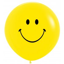 Festivalshop - 1 ballon 90cm smile face geel - STR36SMILE