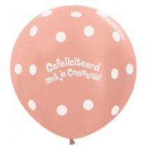 Festivalshop - 1 balloon 90cm communion metallic pink - STR36CO568