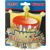 Festivalshop - 3D Button Happy Birthday - FO08053