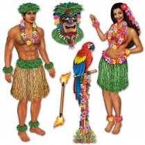Festivalshop - 5 Luau Cut Outs Hula Girl - BE52004