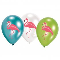 Festivalshop - 6 Ballonnen latex flamingo paradise - AM9903333