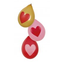 Festivalshop - 6 Balloons latex love hearts - BO48011