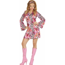 Festivalshop - 70′s dress Disco ball and flower Groovy - WD67641