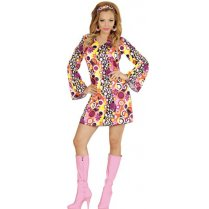 Festivalshop - 70′s dress disco ball and flower groovy - WD67671