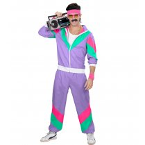 Festivalshop - 80′s Training shell suit purple - WD98790