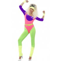 Festivalshop - 80′s fitness workout costume - SM43196