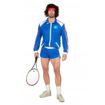Festivalshop - 80′s shell suit tennis player blue - WI5160