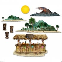 Festivalshop - 8 Tiki Eiland Decoraties - BE52002
