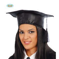 Festivalshop - Graduation hat satin adults - FG13916