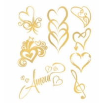 Festivalshop - Amour Goud Flash Tattoo - TAT0135