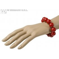 Festivalshop - Bracelet thick pearls red 70s retro - WD1738D