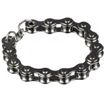 Festivalshop - Armband punk gothic fietsketting zilver - CH83250041