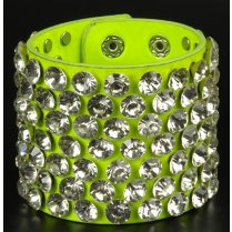 Festivalshop - Bracelet punk neon Green with diamonds - CH8325007525