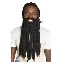 Festivalshop - Beard long black rastaman - BO01849