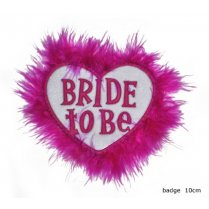Festivalshop - Badge Bride to Be Roze Hartje - 59/59335