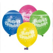 Festivalshop - Ballon Happy Birthday Multi Kleuren - FO94802