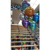 Festivalshop - Balloon bouquet chrome with orbz - FSBD0029