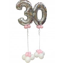 Festivalshop - 2-number balloon deco with clusters 30 - FSBD0005
