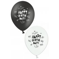 "Festivalshop - Ballons ""Happy Birthday"" Weiß - PX93040"