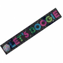 Festivalshop - Banner disco fever Let′s Boogie - AM120067