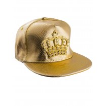 Festivalshop - Baseball Cap Gold with Golden Crown - 63/63569