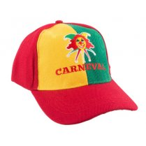 Festivalshop - Baseball cap Carnival red yellow green - 64/55274
