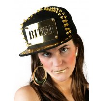 Festivalshop - Baseball cap black-gold bitch - 63/63564