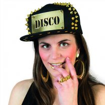 Festivalshop - Baseball cap black-gold disco - 63/63566