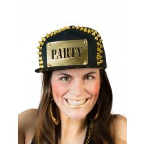 Festivalshop - Baseball cap black-gold party - 63/63565