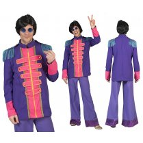 Festivalshop - Beatles cardigan fluo purple-pink - 30/608374