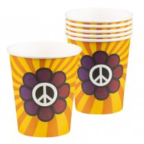 Festivalshop - Bekers flower power - BO44531