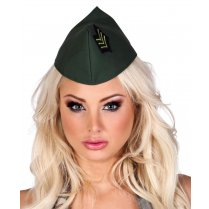 Festivalshop - Beret lady army dark green - BO04223