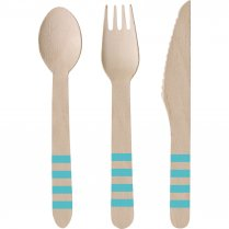 Festivalshop - Cutlery wood Pineapple Vibes 24 pieces - AM9903311
